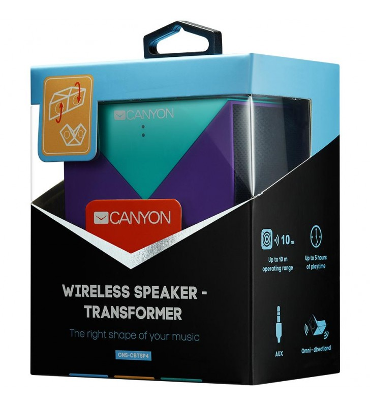 Transformer Bluetooth Speaker, BT V5.0, Jieli AC6925, 360 degree rotation, Built in microphone, TF card support, 3.5mm AUX, micr