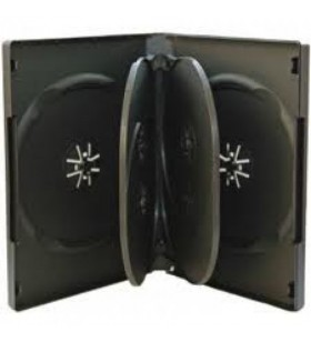 Carcasa 6 DVD standard negru