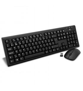 V7 CKW200 tastaturi RF fără fir AZERTY Flamandă Negru