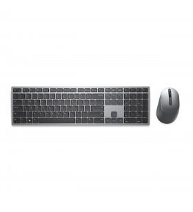 DELL KM7321W tastaturi RF Wireless + Bluetooth QWERTY US Internațional Gri, Titan