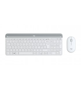 Logitech MK470 Slim Wireless Combo tastaturi RF fără fir Elvețiană Alb