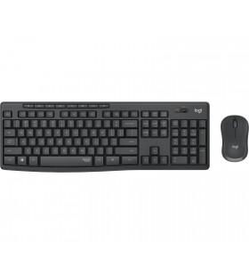 Logitech MK295 Silent Wireless Combo tastaturi RF fără fir Portugheză Negru