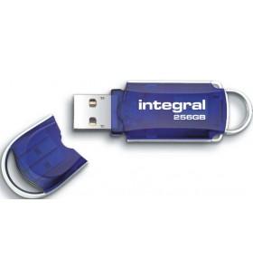 Integral COURIER memorii flash USB 256 Giga Bites USB Tip-A 2 Albastru, Argint