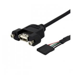 StarTech.com USBPNLAFHD3 cabluri USB 0,9 m IDC USB A Negru