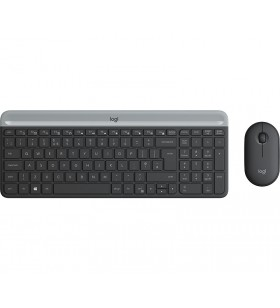 Logitech MK470 Slim Wireless Combo tastaturi RF fără fir AZERTY Franţuzesc Grafit