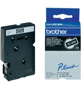 Brother TC-395 benzi pentru etichete Alb pe negru