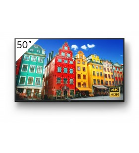 "Sony FW-50BZ30J Afișaj Semne Panou informare digital de perete 127 cm (50"") VA 4K Ultra HD Negru Procesor încorporat Android 10"