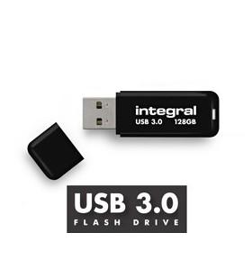 Integral NOIR memorii flash USB 128 Giga Bites USB Tip-A 3.2 Gen 1 (3.1 Gen 1) Negru