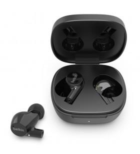 Belkin AUC004BTBK cască audio & cască cu microfon Căști În ureche Conector 3,5 mm Bluetooth Negru