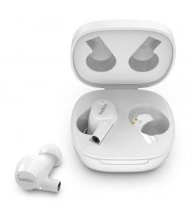 Belkin AUC004BTWH cască audio & cască cu microfon Căști În ureche Conector 3,5 mm Bluetooth Alb