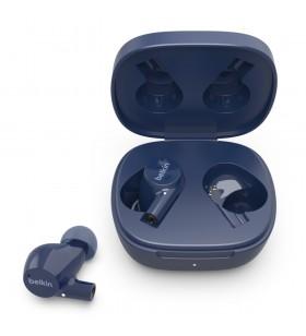 Belkin SOUNDFORM Rise Căști În ureche Bluetooth Albastru