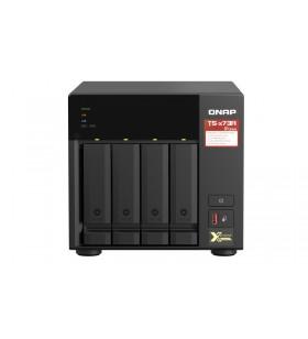 QNAP TS-473A NAS Tower Ethernet LAN Negru V1500B