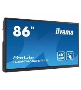 "iiyama TE8604MIS-B2AG table albe interactive 2,18 m (86"") 3840 x 2160 Pixel Ecran tactil Negru HDMI"