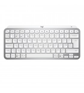Logitech MX Keys Mini tastaturi RF Wireless + Bluetooth ĄŽERTY Franţuzesc Argint, Alb