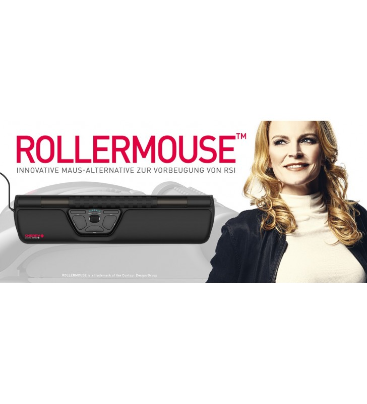 CHERRY ROLLERMOUSE™ mouse-uri Ambidextru USB Tip-A Optice 2800 DPI