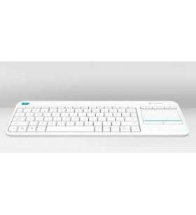 Logitech K400 Plus tastaturi RF fără fir QWERTY Italiană Alb