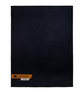 floor mats for gaming chair Size: 100x130cm lower side:antislip basedurable polyester fabricColor: Black  with canyon logo
